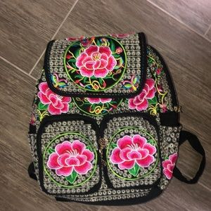 Mexican Embroidered Backpack